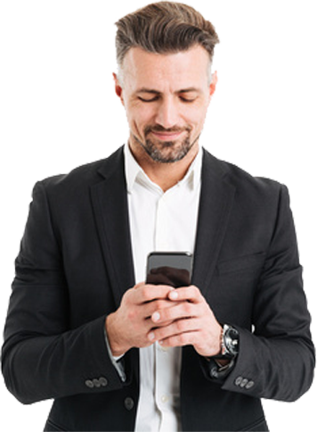 business person with cellphone